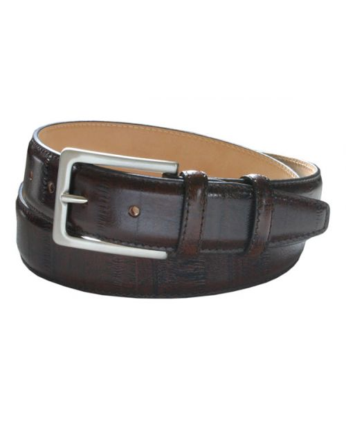 Robert Charles Eel Brown Leather Belt 35mm