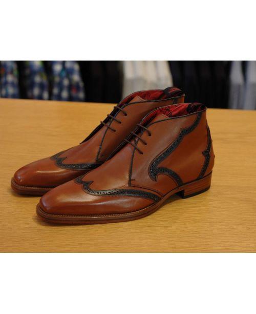 Jeffery West Muse Boot H. Caron Tan/Dk Blu