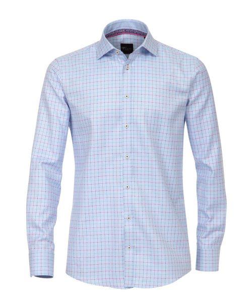 Venti Kent Slim Fit Shirt Blue