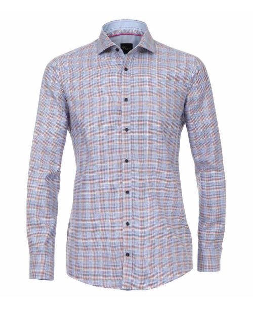 Venti Hai Slim Fit Shirt Blue check
