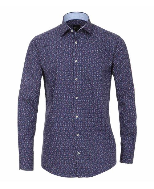 Venti Kent Slim Fit Shirt Blue