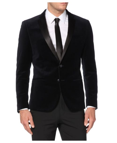 Remus Uomo Slim Fit Velvet Dinner Jacket Navy