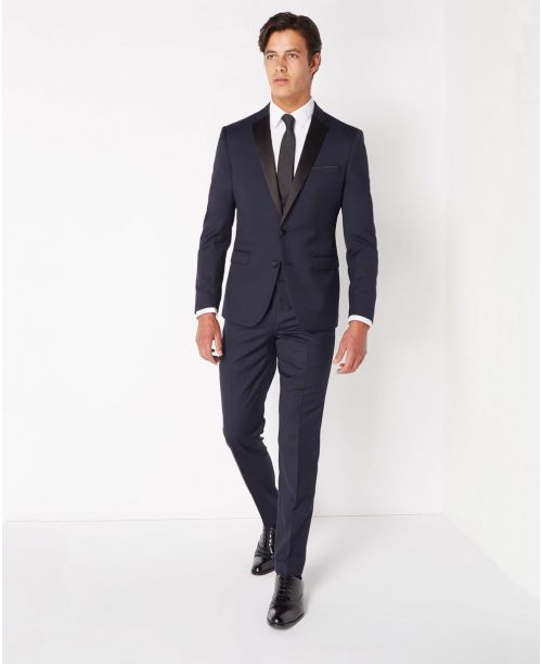 Remus Uomo Slim Fit Wool-Rich Mix n Match 2 Piece Dinner Suit Navy