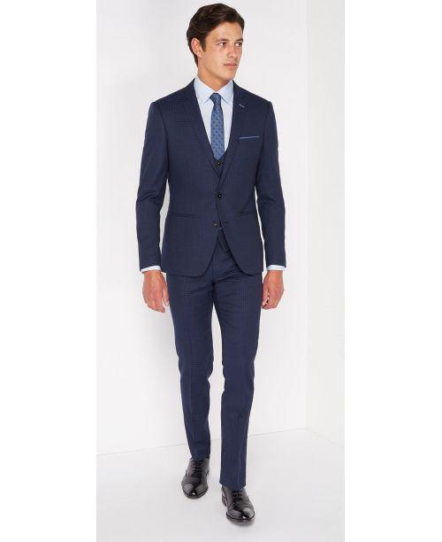 Remus Uomo X-slim fit Pure Wool Mix n Match 3 Piece suit Navy