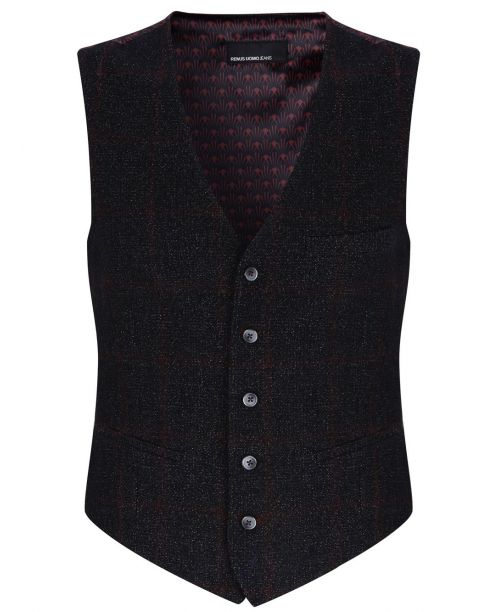 Remus Uomo Wool-Rich Charcoal Waistcoat