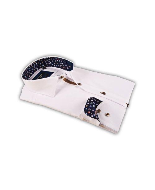 Giordano Arona LS Cutaway White with Navy Trim