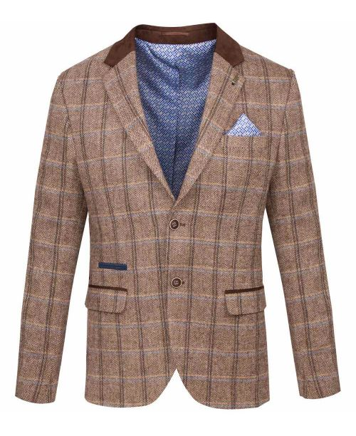 Fratelli Uniti Tan Three Piece Suit