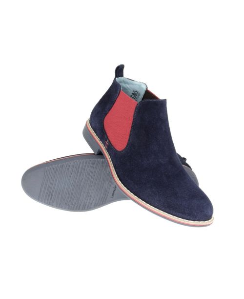 Lacuzzo Navy Chelsea Boot