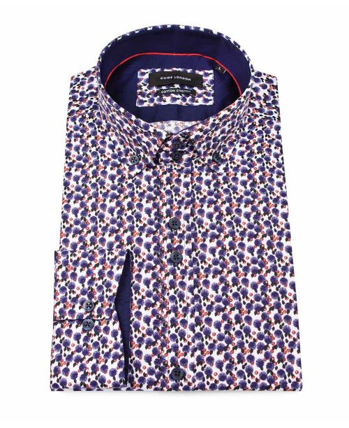 Guide London L/S Shirt wth Floral Print