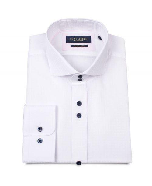 Guide London Cotton Smart Self-Check with a Silky Finish White