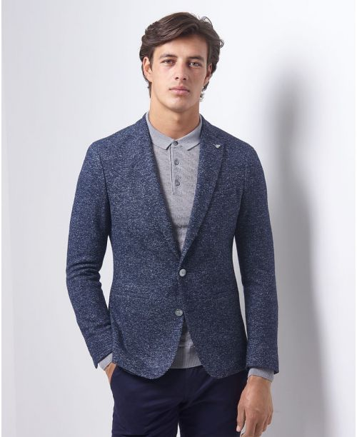Remus Uomo Slim Fit Wool-Rich Jacket Navy
