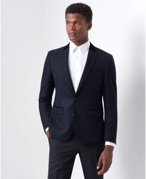 Remus Uomo Slim Fit Wool-Rich Jacket Navy