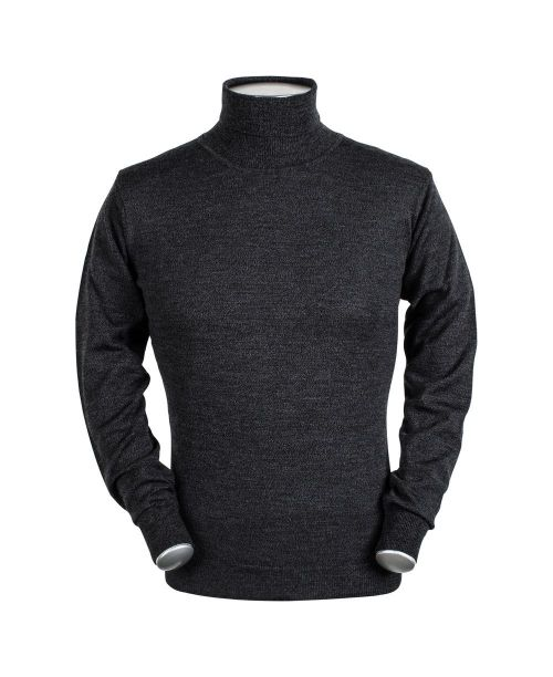 Baileys High Neck Pullover Charcoal