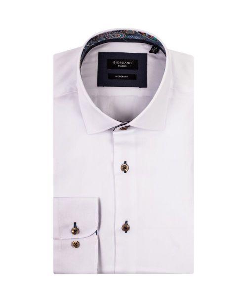Giordano Arona LS Cutaway Italian Fabric White