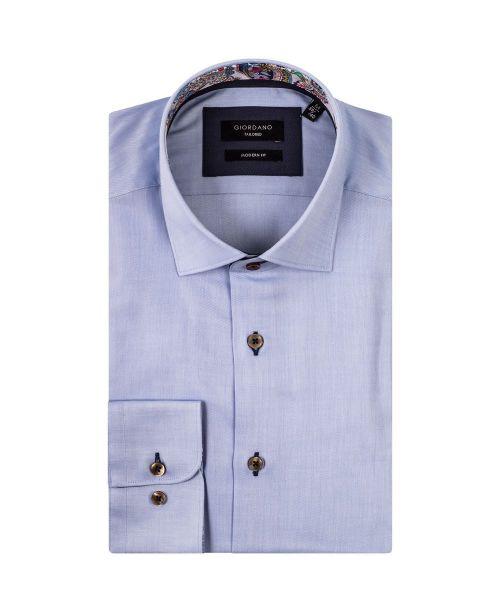 Giordano Arona LS Cutaway Italian Fabric Blue