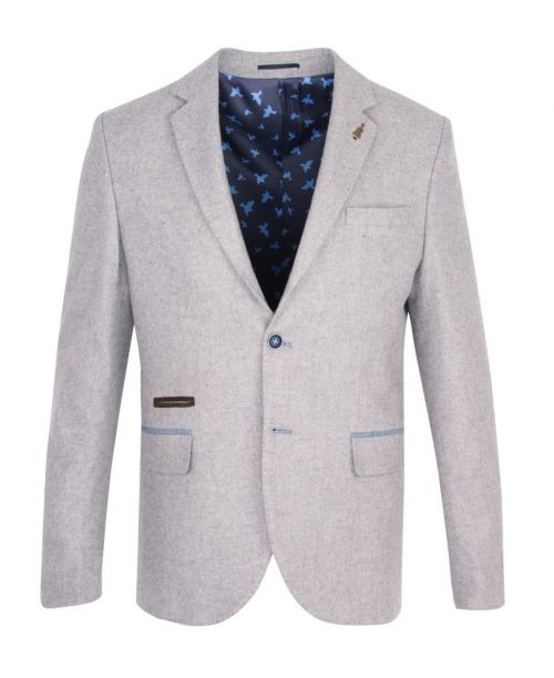 Fratelli Uniti Silver Grey Tweed Jacket