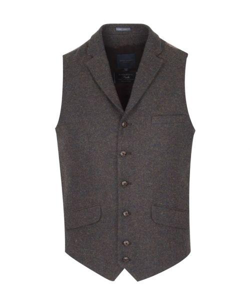 Guide London Tweed Waistcoat Brown