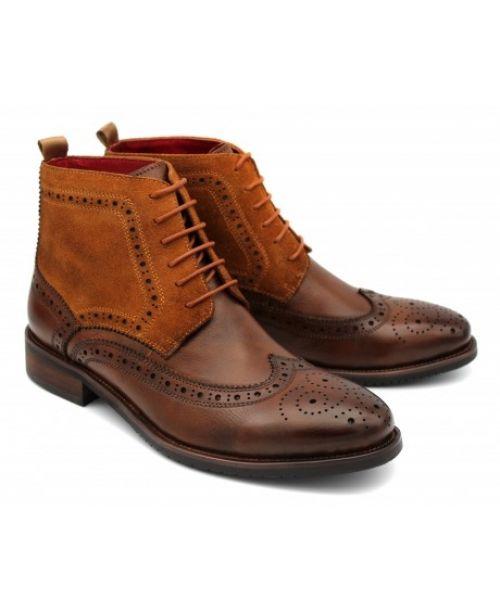 Sergio Duletti Brown Lace-Up Boot