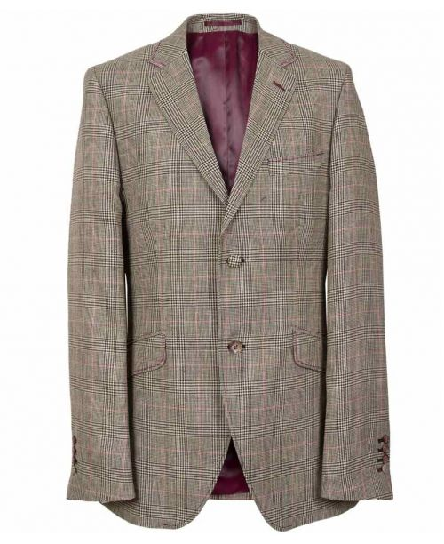 Holland Esquire SS15 Classic Prince of Wales Jacket Grey