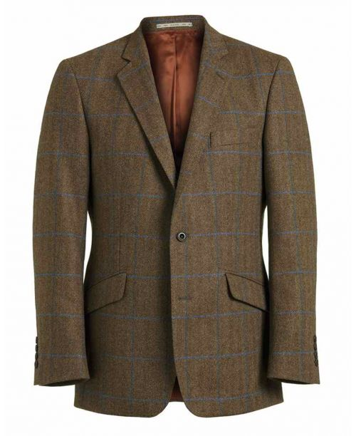 Magee Brown and Blue Check Tweed Jacket