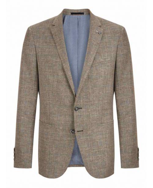 Remus Uomo Linen Blend Slim Fit Jacket Beige