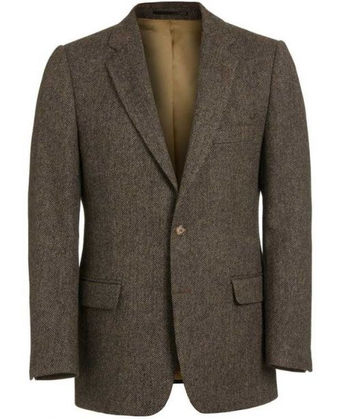 Magee Donegal Tweed Brown Herringbone Jacket