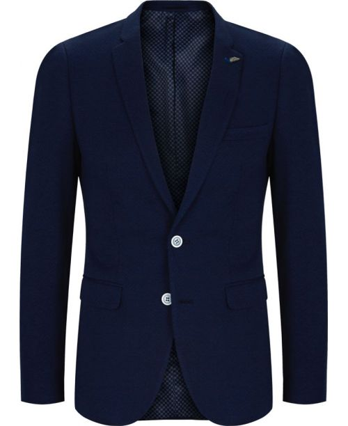 Remus Uomo Slim Fit Jersey Jacket Navy