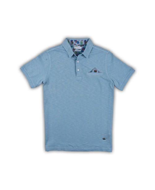 Giordano Hagen SS Slub Jersey Polo Blue