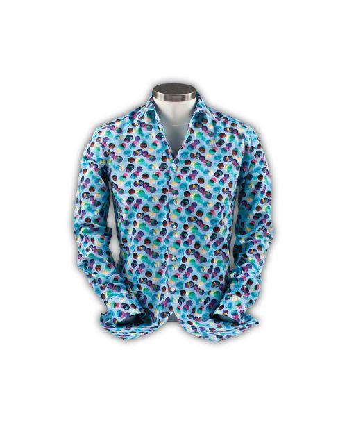 Giordano Maggiore Cutaway Blue with Colourful Spots