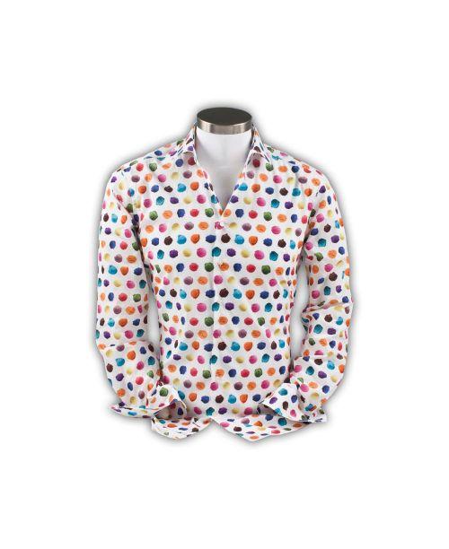 Giordano Maggiore Cutaway White with Colourful Spots