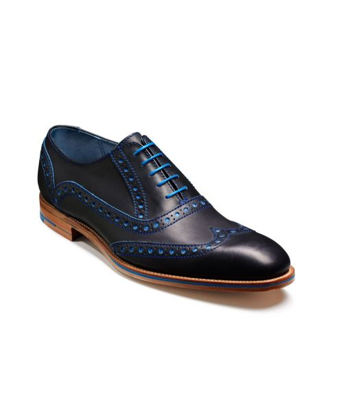 Barker Shoes Grant Navy/Classic Blue Calf Brogue