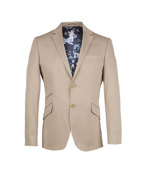 Guide London 2 Piece Cotton Sateen Suit Stone