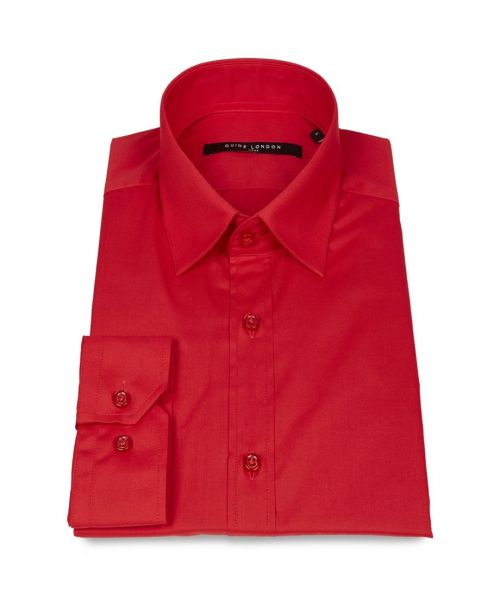 Guide London Basic Fitted Shirt Red