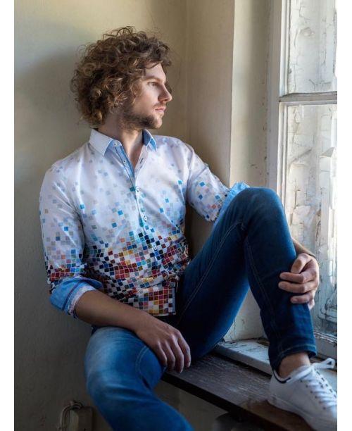 Rich Friday Mosaic Printed Shirt