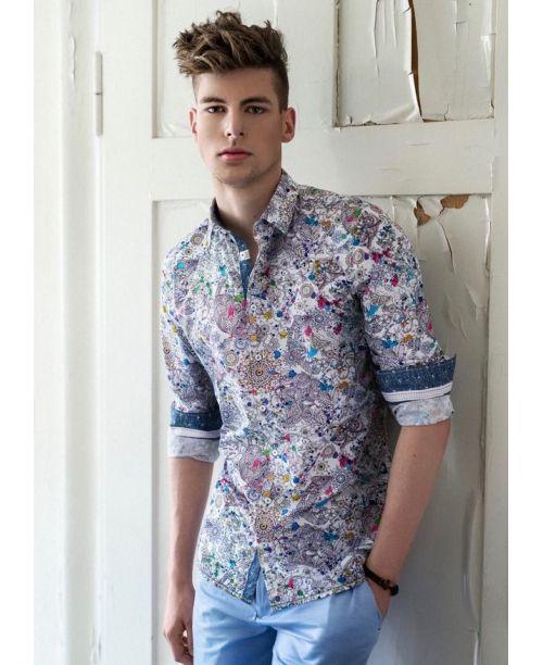 Rich Friday Animal Motif Printed Shirt