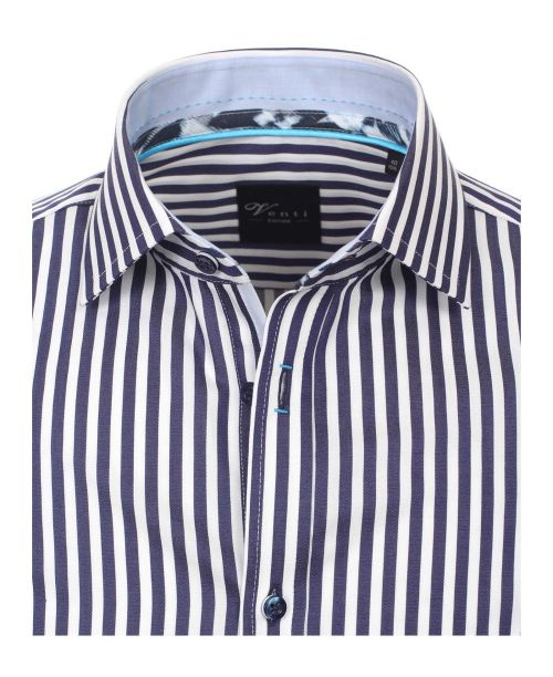 Venti Kent Slim Fit Shirt Blue Stripe