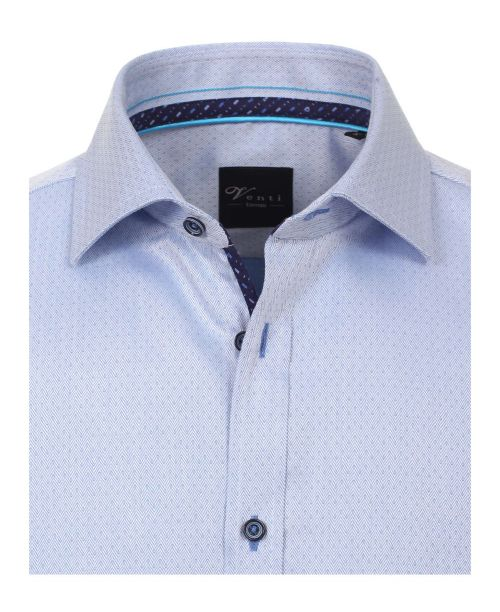 Venti Kent Slim Fit Shirt Pale Blue