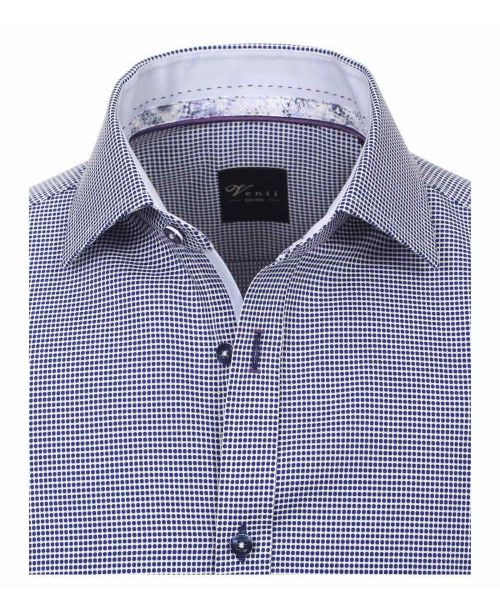 Venti Kent Slim Fit Shirt Dark Blue