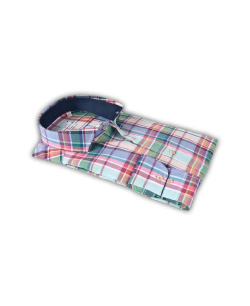 Giordano Livorno LS Semi Cutaway Check Shirt