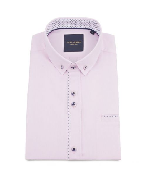 Guide London Soft and Light Cotton Fabric SS Shirt Pink