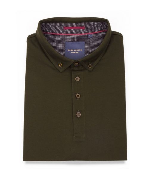 Guide London Classic Mercerised Polo Green