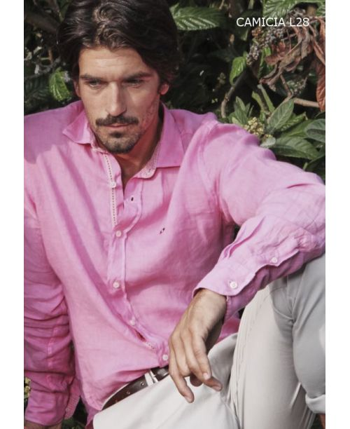 Webb & Scott Co. Pink Linen Shirt