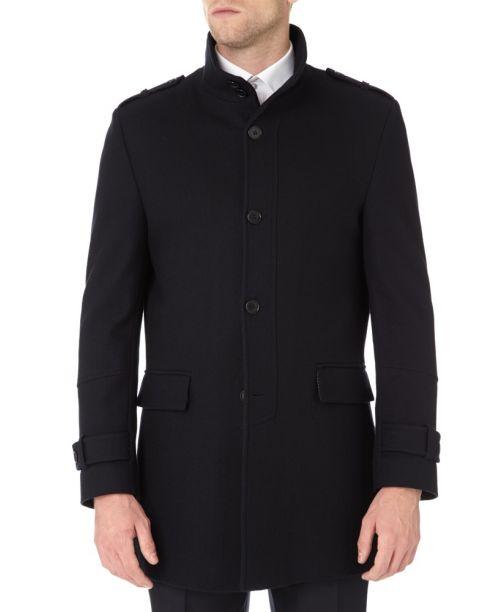 Remus Uomo  Brewman Overcoat Black