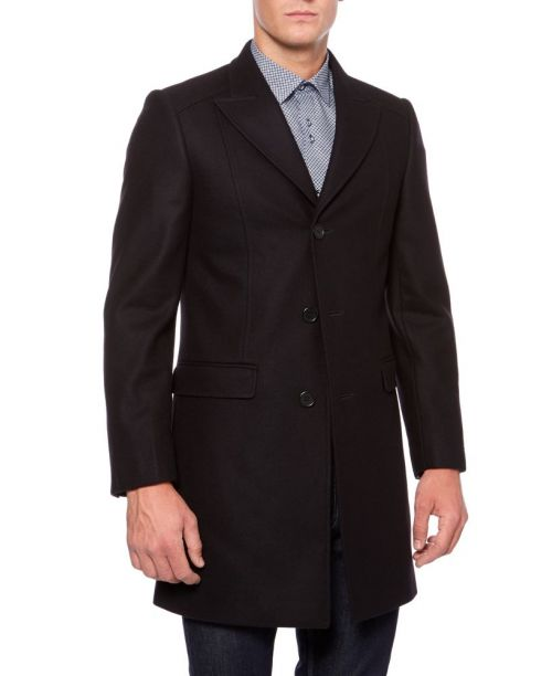Remus Uomo Rodwell Wool and Cashmere Coat Navy