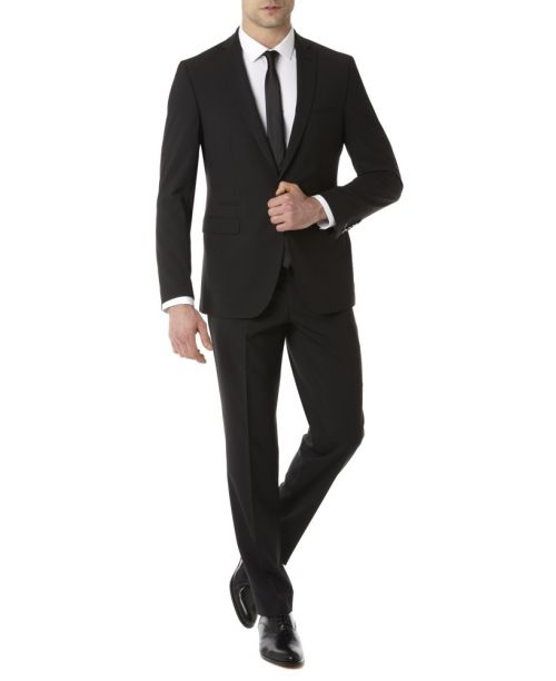Remus Uomo Slim Fit MnM Black Suit