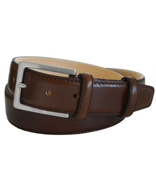 Robert Charles Brown Leather 35mm Belt