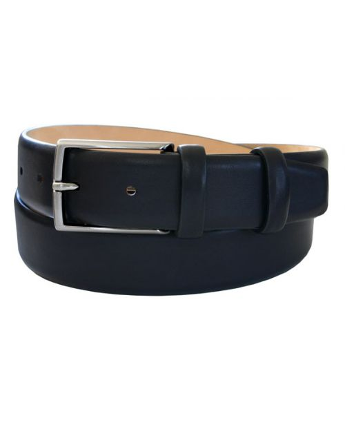Robert Charles Calfskin Black Feather Edge 35mm Belt