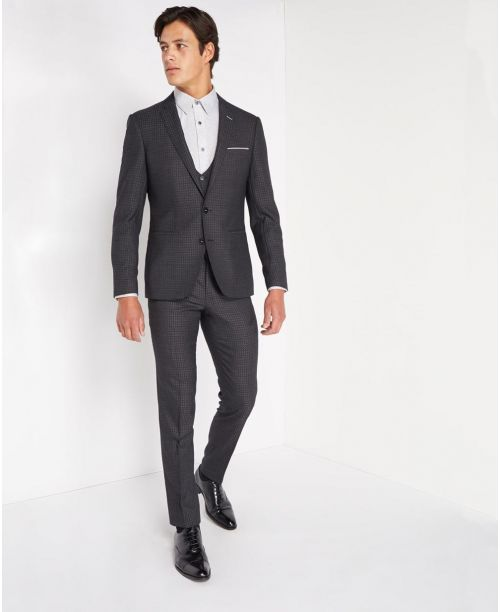 Remus Uomo X-slim fit Pure Wool Mix n Match 3 Piece suit Grey