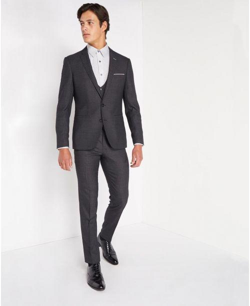 Remus Uomo X-Slim Fit Pure Wool MnM 3 Piece Suit Grey