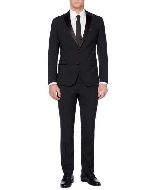 Remus Uomo Slim-Fit Dinner Suit Black